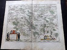 Blaeu, Willem C1645 Hand Coloured Map. Charoloic, France