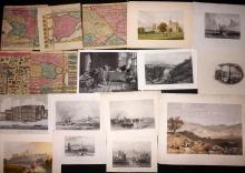 Mixed Prints & Watercolours 18th-19th Century, Lot of 20+