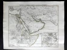 Stieler, Adolf 1845 First Edition Map of Arabia