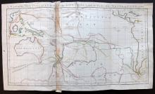 Australia, Cook's Voyages 1788 Rare Hand Coloured Map from Guthrie's Geographical Grammar