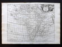 Le Rouge, George Louis 1748 Map of Africa Continent