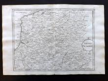 Le Rouge, George Louis 1748 Map of Artois & Picardy, France