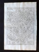 Le Rouge, George Louis 1748 Map of Burguny, France