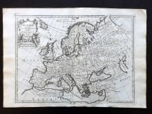 Le Rouge, George Louis 1748 Map of Europe Continent