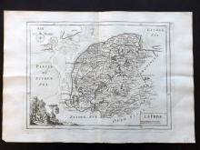 Le Rouge, George Louis 1748 Map of Friesland, Netherlands Holland