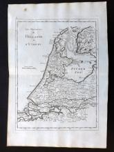 Le Rouge, George Louis 1748 Map of Netherlands Holland