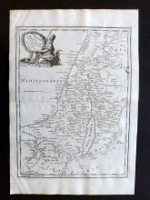 Le Rouge, George Louis 1748 Map of Palestine & Israel