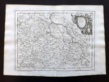 Le Rouge, George Louis 1748 Map of Saxony, Germany