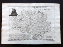 Le Rouge, George Louis 1748 Map of Switzerland