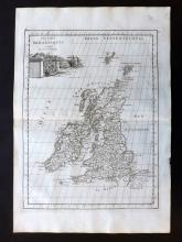 Le Rouge, George Louis 1748 Map of the British Isles