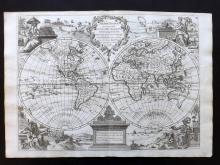 Le Rouge, George Louis 1748 Map of World Hemispheres