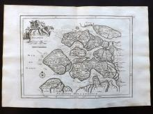 Le Rouge, George Louis 1748 Map of Zeeland, Holland Netherlands