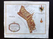London 1767 Hand Coloured Map of Portsoken Ward from the London Magazine