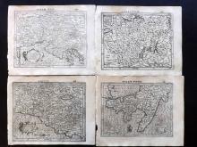 Mercator, Gerard & Hondius, Jodocus 1610 Group of 4 Maps of Italy