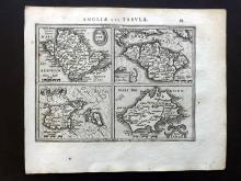 Mercator, Gerard & Hondius, Jodocus 1610 Map of Anglesey, Jersey, Guernsey, Isle of Wight