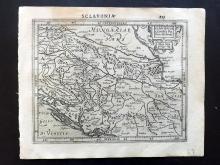 Mercator, Gerard & Hondius, Jodocus 1610 Map of Croatia, Bosnia, Balkans