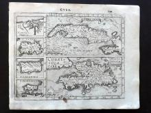 Mercator, Gerard & Hondius, Jodocus 1610 Map of Cuba & Caribbean