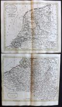 Netherlands 1788 Pair of Hand Coloured Maps from Guthrie's Geographical Grammar