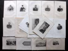 Poland - Chodzko, Leonard 1843 Lot of 18 Portraits, Views and Map
