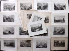 Switzerland - Bartlett, William C1840 Lot of 22 Steel Engraved Views