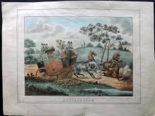 Alken, Henry (Pub) C1830 Hand Coloured Etching. A Lively Team