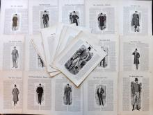 Gentlemans Fashion C1910 Lot of 36 Text Illustrations. Tailoring