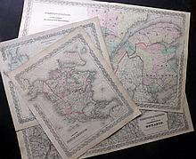 Canada C1857-70 Group of 4 Maps by Colton.