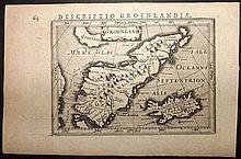 Bertius, Petrus C1600 Map of Greenland