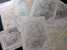 Maps 19th - Early 20th Century. Mixed lot of approx 100 Maps.