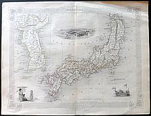 Tallis, John (Pub) & Rapkin, John 1852 Map of Japan & Korea