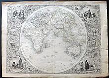 Tallis, John (Pub) & Rapkin, John 1852 Map of Eastern Hemisphere