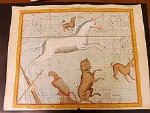Flamsteed, John 1781 Large Hand Coloured Celestial Map. Monoceros, Canis Major 13