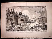 Piranesi, Giovanni Battista C1765 Large Architectural Print. Forum Romanum 41