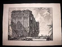 Piranesi, Giovanni Battista 1763 Large Architectural Print. Temple of Salus 71