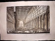 Piranesi, Giovanni Battista C1800 Large Architectural Print. S Paulo Fuori le Mura 7