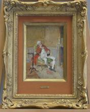Bernard Louis BORIONE (1865-?), Portrait de genti