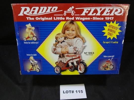 Radio Flyer authentic working mini tricycle, dolls and stuffed animals sized, NIB, No. 553