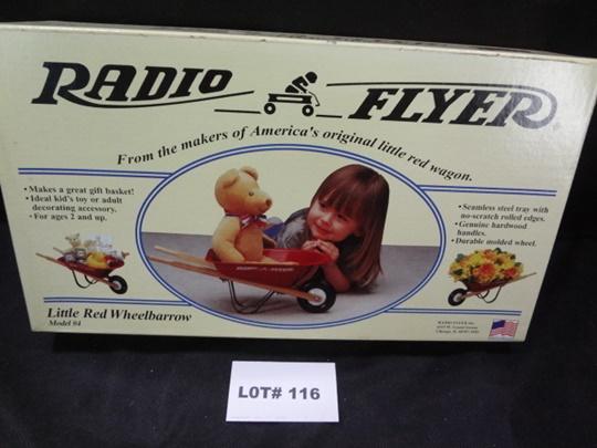 Radio Flyer authentic working mini wheelbarrow, dolls and stuffed animals sized, NIB, No. 4
