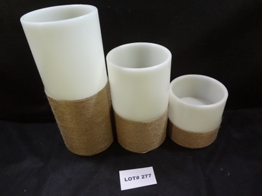 Three Best Light flameless candles, tested, work, each uses 3