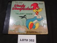 Woody Woodpecker and His Talent Show, by Walter Lantz, copyright 1949, missing one record (3/4), book is in good condition