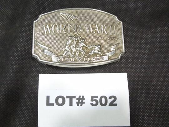 World War II Remembered 1941-1945 belt buckle by CSI