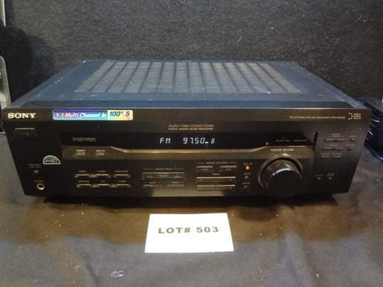 Sony 5.1 Multi Channel In Audio/Video Control Center Amp/ Receiver, model STR-DE345, powers on, not tested