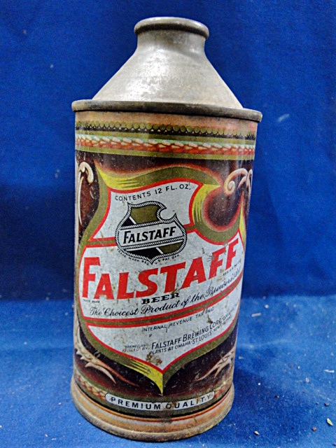 Vintage Falstaff Beer Cone Top Beer Can
