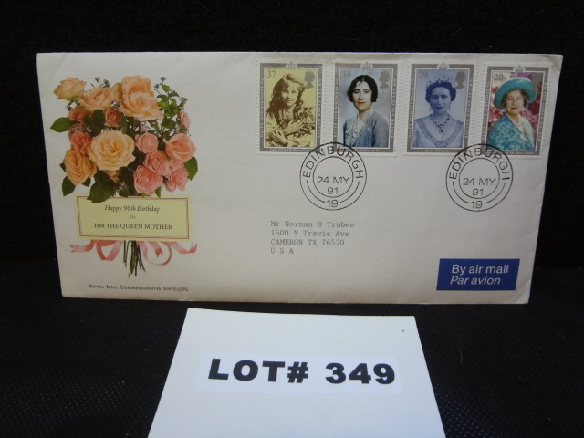 British Royal Mail Commemorative Envelope celebrating the 90th Birthday of the Queen Mother Cover