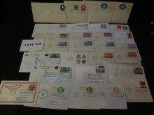 Fifty first day covers and misc postal items
