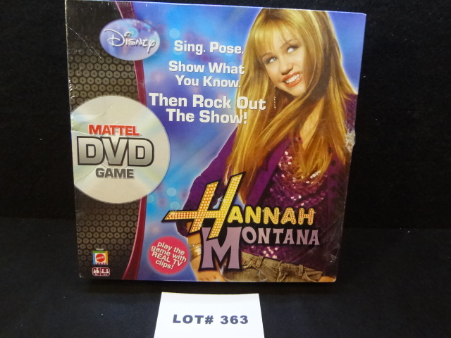 Mattel DVD Game, Hannah Montana, NIB, Miley Cyrus as Hannah