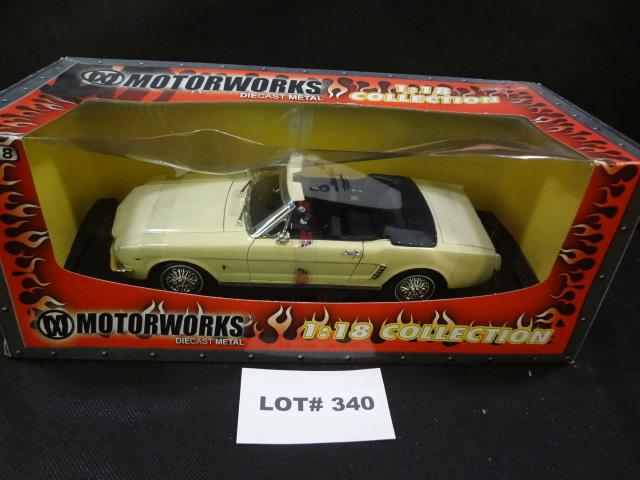 Motorworks 1:18 scale die cast 1964 Mustang convertible, NRFB