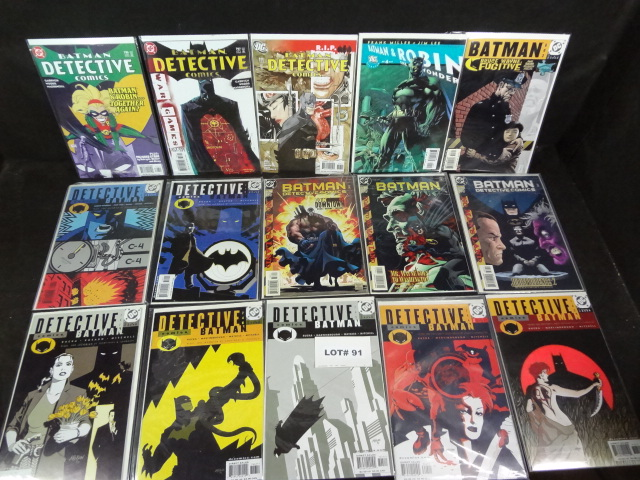 Fifteen Batman comics, all near mint