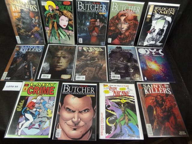 Fourteen comics, all near mint, various titles