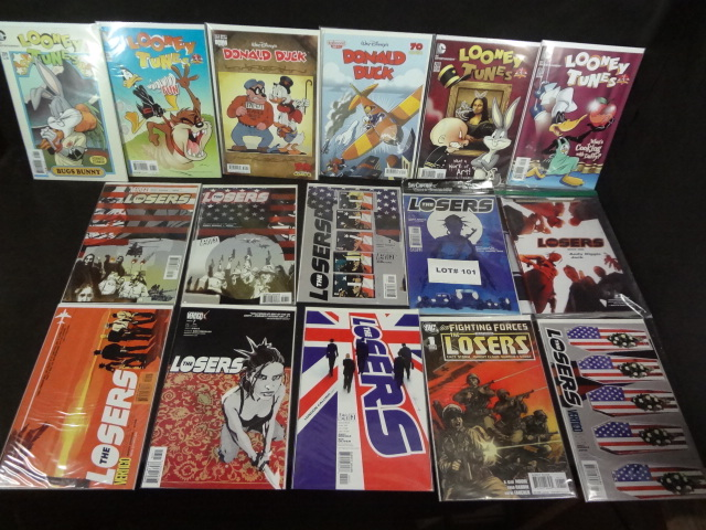 Sixteen comics, all near mint, various titles